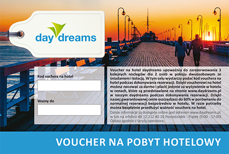 daydreams - voucher na hotel